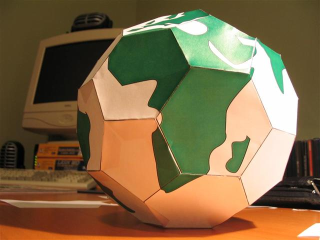 Buckyball earth made of paper