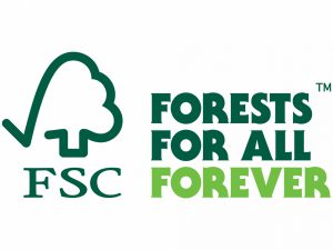 FSC Logo: reads Forests for all Forever